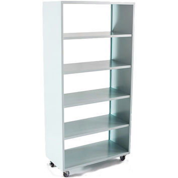 "Active Duty Bookcase with Casters 5 Shelf - 75""Hx36""Wx18""D /"