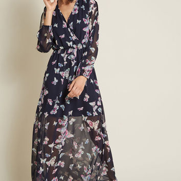 Glide Me Home Chiffon Maxi Dress