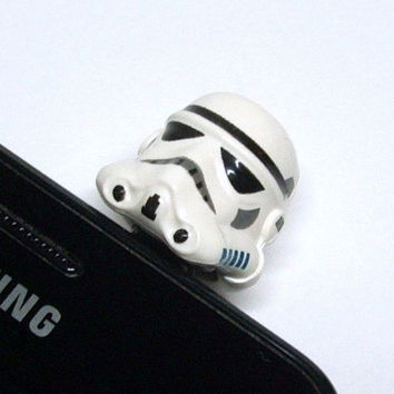 Storm Trooper Cell Phone Charm, made from Star Wars Lego Head