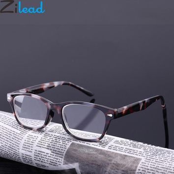 Marble Stone Design Reading Glasses Leopard Magnifying