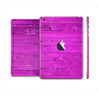 The Purple Highlighted Wooden Planks Full Body Skin Set for the Apple iPad Mini 2