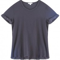 Boutique 1 - JAMES PERSE - Blue Rolled Sleeves T-Shirt | Boutique1.com