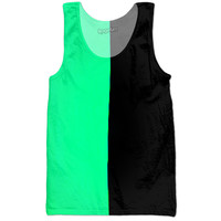 Green Black Tank Top