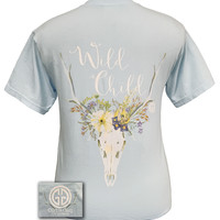 Girlie Girl Wild Child Comfort Colors Chambray Bright T Shirt