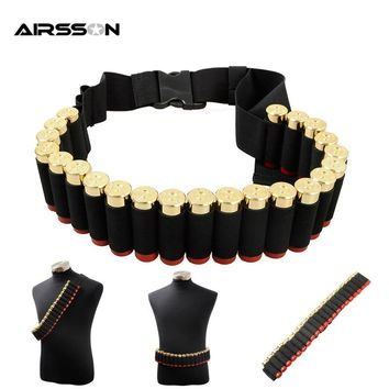 Airsoft Hunting Belt 1000D Nylon Molle 25 Rounds Shell Reload Belt Tactical Arma Pintball Carrier Arisoftsports Gun Ammo Holder