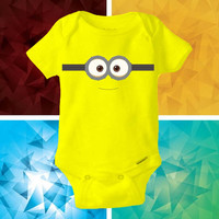 minion funny baby shirt Onesuit - minion cute funny Onesuit cute - baby Onesuit - Kitty Onesuit - Baby Clothing -