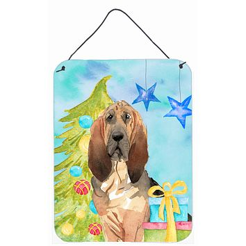 Christmas Tree Bloodhound Wall or Door Hanging Prints CK1887DS1216