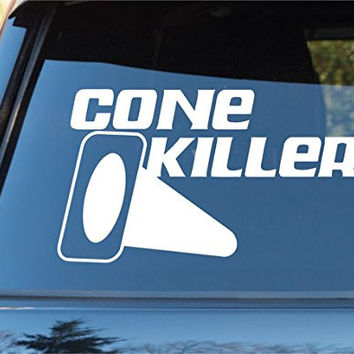Cone Killer Car Window Windshield Lettering Decal Sticker