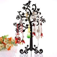 Jewelry Display Stand Holder Metal Tree Bird Earring Bracelet Necklace Ring