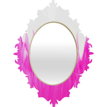 Allyson Johnson Pink Brushed Baroque Mirror