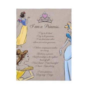 I Am A Disney Princess Glitter Canvas Art Print