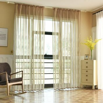 Modern polyester embroidery tulle curtains living room curtains kitchen door floral design curtains short