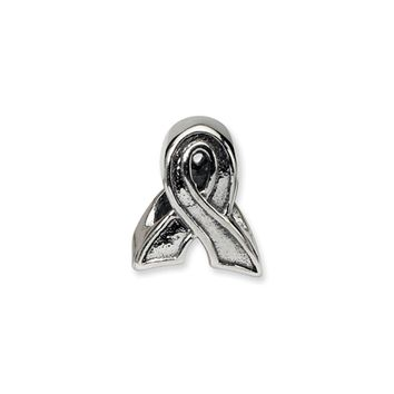 Sterling Silver Awareness Ribbon Bead Charm