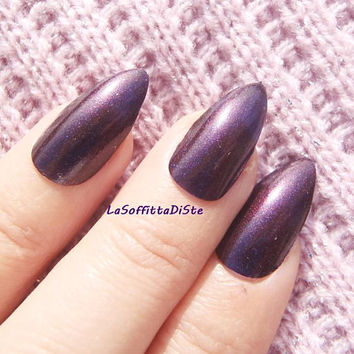 purple fake nails chameleon stiletto nails purple blue glue on almond nail polish wag false nails pointy fashion acrylic lasoffittadiste