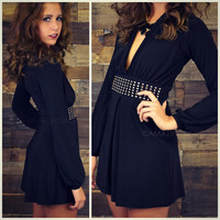 Mademoiselle Black V Cocktail Dress