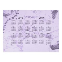 Old Purple Paint 2 Year 2016-2017 Wall Calendar Print from Zazzle.com