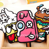 3D Cute Funny Cartoon Food Silicone soft Case cover for Apple iphone 6 plus 4.7""