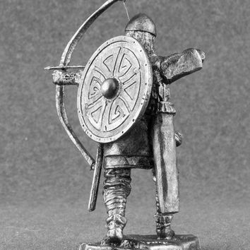 Collectible Historical Sculpture  Viking archer warrior military 1/32 pewter miniature figurines 54mm home decoration statue ptesent