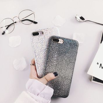 For iphone 6S Case Hangrui Gradient Shining Mermaid Fish Scales Laser Back Cover PU Leather Cases for iphone 6 6s 7 7 Plus Coque