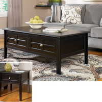 Henning Metro Black Coffee Table Set by Ashley Furniture