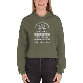 Holiday Sweater Cropped Hoodie
