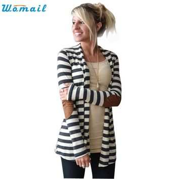 2018 Women Cardigan Knitwear Oversize Autumn Cardigan Sweater Poncho Long Cardigan Women Knitted Stripe Cardigans Coat Nov29