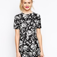 ASOS Playsuit in Dark Floral Print
