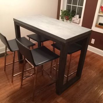 "CB2 Stern Table and 24"" Stools"