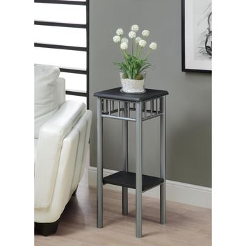Black & Silver Metal Plant Stand