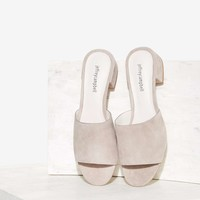 Jeffrey Campbell Beaton Suede Heel - Gray