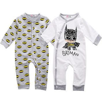 Newborn Baby Girls Boy Batman Romper Playsuit One-pieces Outfits 0-18M newborn baby clothes baby jumpsuits body baby Rompers