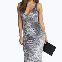 Joy Velvet Plunge Neck Midaxi Dress
