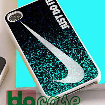 Glitter Just Do It For Iphone 4/4s, iPhone 5/5s, iPhone 5C, iphone 6, and iPhone 6 Plus Case
