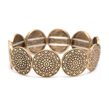 Face Up Bracelet In Gold