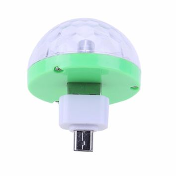 Colorful 3W 4 LED Disco DJ Party Stage Light with USB Adapter