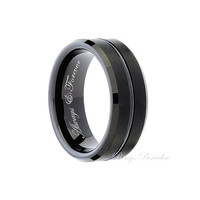 Tungsten Wedding Band, Men's Tungsten Ring, Tungsten Carbide, His and Her Promise Ring, Personalized Ring, Mens Gift, Engagement Ring, Bands