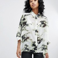 Religion Oversized Shirt In Shatter Print at asos.com