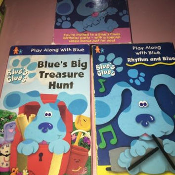 Blues Clues VHS VIDEO Lot of 3~All Steve Episodes~Play Along/ Birthday Discoveri