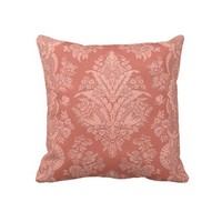 Intricate Vintage Floral in Melon Pillow from Zazzle.com