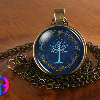 Lord of the Rings LotR Tree of Gondor Fashion Necklace Pendant Jewelry Art Gift