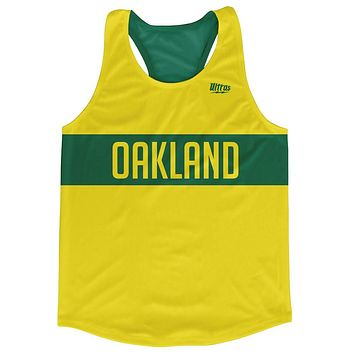 Oakland City Finish Line Running Tank Top Racerback Track and Cross Country Singlet Jersey