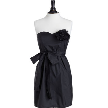 Strapless Stylist Apron Black with Black Accents