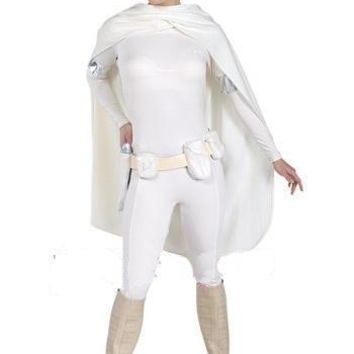 Free Shipping Star Wars 2 Attack Of The Clones Padm Amidala Cosplay Costume with belt