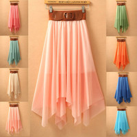 Irregular Bohemia Chiffon Beach Skirts
