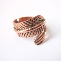 Copper Feather Ring — Beyond Buckskin Boutique