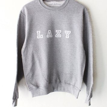 Lazy Oversized Sweatshirt - Grey