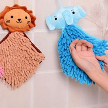 Good Use Absorbent Water Hand Cartoon Dry Towel Kitchen Bathroom Office Car Use chenille quickly dry towel