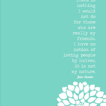 Jane Austen Quote Digital Art Friendship Print My Friends Eggplant Plum Purple