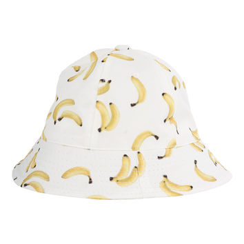 White Banana Bucket Hat