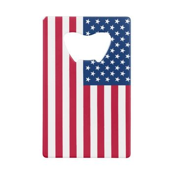US Flag Credit Card Bottle Opener
